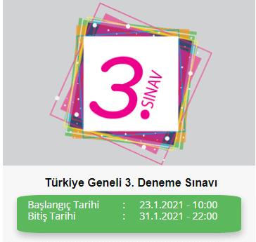 ADIM ADIM TÜRKİYE GENELİ 3. DENEME SINAVI