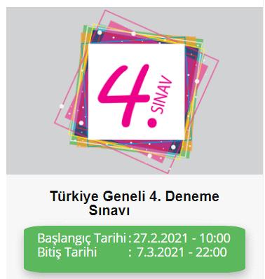 TÜRKİYE GENELİ DENEME SINAVI ADIM ADIM 4