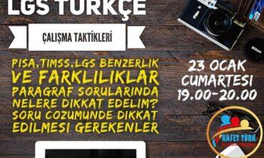 LGS Türkçe Çalışma Taktikleri