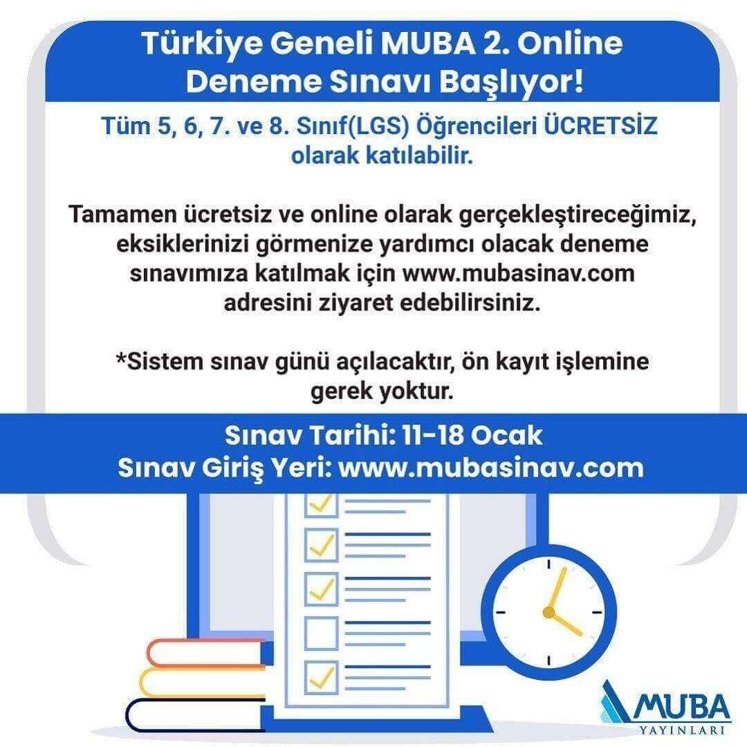 Türkiye Geneli Muba Online Deneme Sınavı