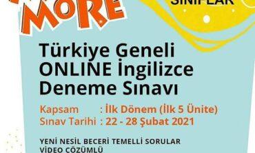 More & More Türkiye Geneli Online İngilizce Sınavı